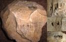 Skolithos-Sandstein m. freigelegten Röhren