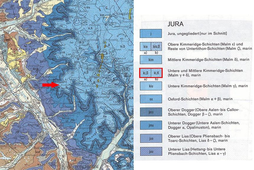 Fränkische Schweiz Karte.Steinkern De Die Fossilien Community Fossilien Aus Einem