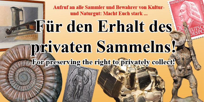 Internationaler Aufruf an alle Sammler von Kultur- und Naturgut