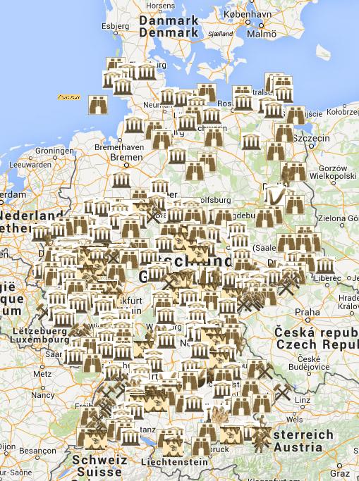 Geologische Karte Ruhrgebiet.Steinkern De Die Fossilien Community Steinkern Karte